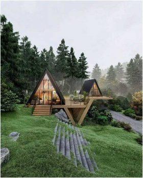 Một số mẫu thiết kế bungalow từ gỗ thông đẹp lung linh