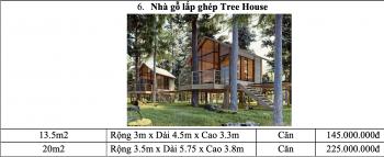 Bảng giá thi công nhà lắp ghép Tree House