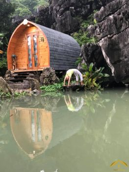 """Khám phá Bungalow Ninh Bình """"Ẩn mình"""" nơi núi rừng bạt ngàn"""