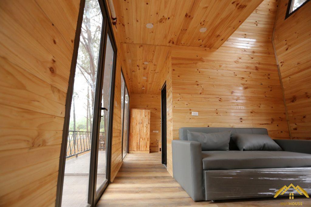 Không gian nội thất hiện đại thu nhỏ trong không gian bungalow
