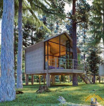 Thiết kế nhà gỗ homestay tại Hòa Bình