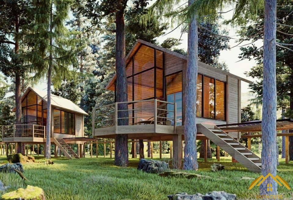 Những ưu điểm khi đầu tư vào mô hình thi công nhà gỗ Bungalow