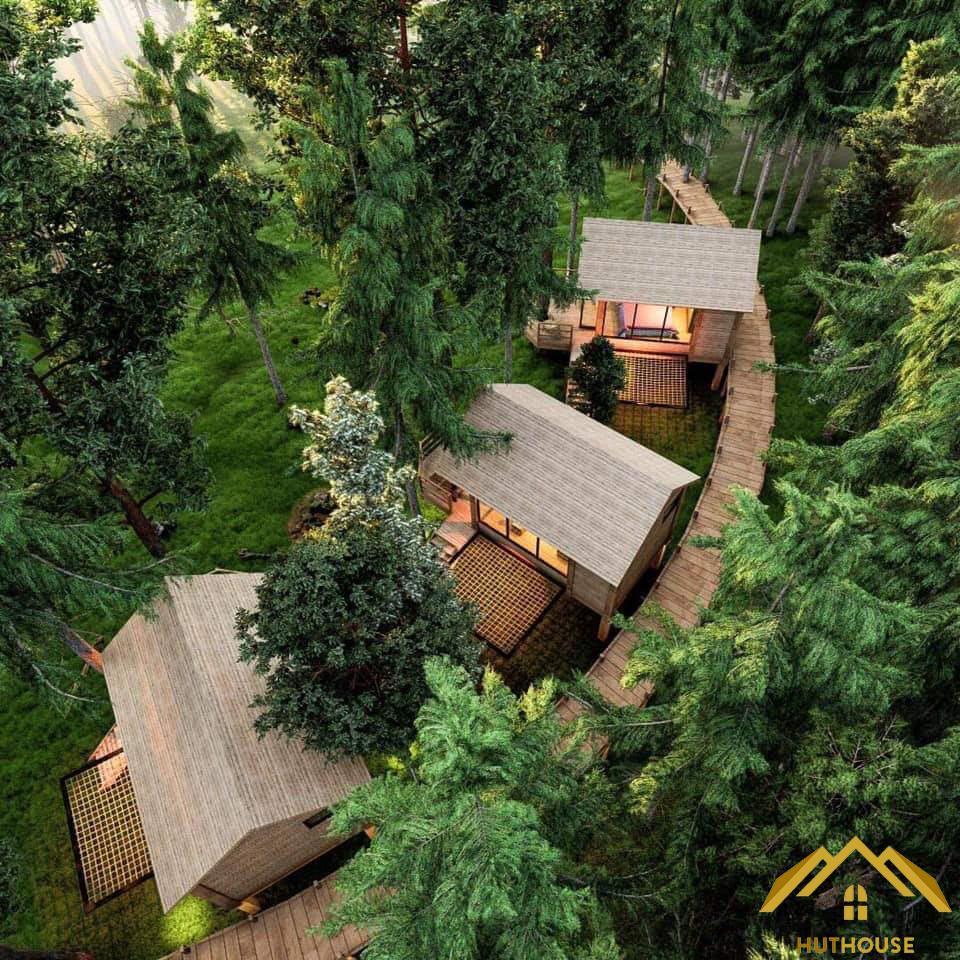 Hut House – Đơn vị thiết kế và thi công Bungalow chuyên nghiệp nhất hiện nay