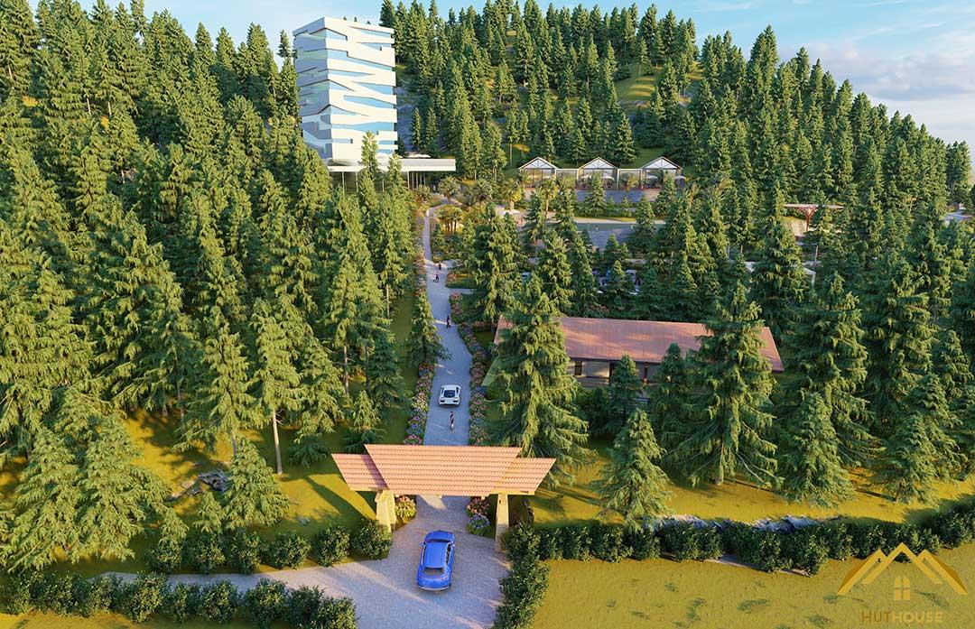 Thiết kế & thi công dự án khu nghỉ dưỡng tại Sóc Sơn