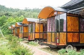 Phong cách thiết kế nhà lắp ghép 1 tầng gỗ thông