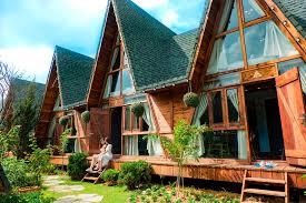 Không gian bungalow thoáng mát, trong lành