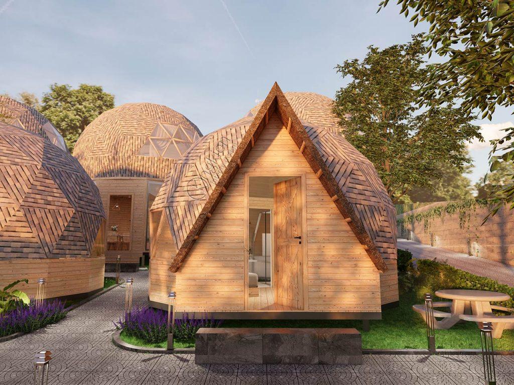 Nhà gỗ Homestay nên được làm bằng chất liệu tổng hợp