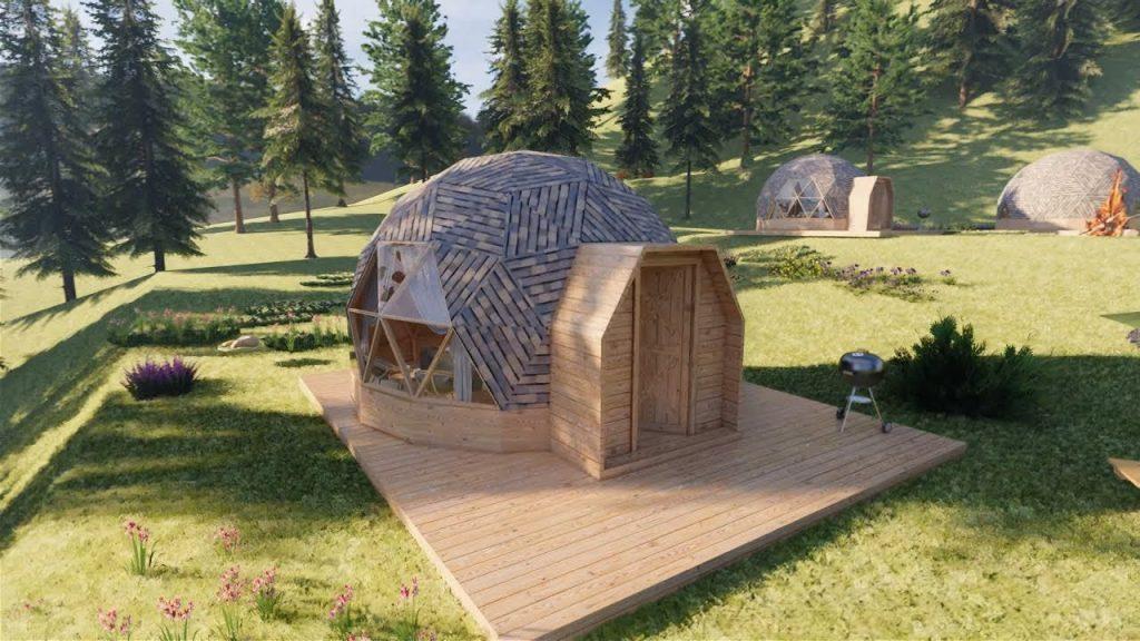 Nhà gỗ bungalow ốc sên lạ mắt