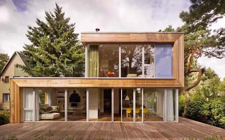 Nhà lắp ghép bằng gỗ tạo hiệu ứng 3D